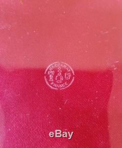Baccarat Crystal Dessert Plates / HAUT BRION (Saint Emilion) Set Of 10