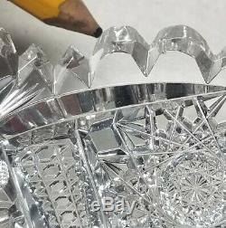 Beautiful Blackmer ABP Columbia American Brilliant Cut Glass 7 Plate or Dish