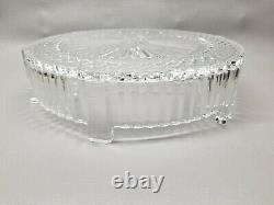 Beautiful Crystal Cake Stand Czech glass plate 12 x 3