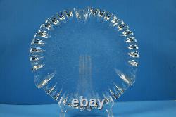 Blenko Art Glass Ice Floe / Flow Cake Serving Plate Tray Platter Don Shepherd