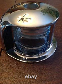 Boat Bow Light Clear Glass Nickel Plated Jan. 15