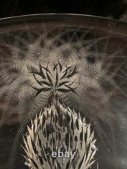 Bohemian/Czech Art Glass/Crystal, JOSEF SVARC THISTLE 14.25 ROUND Platter