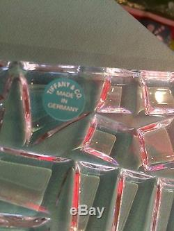 Brand New In Box! Tiffany & Co Glass Serving Plate! Never Used