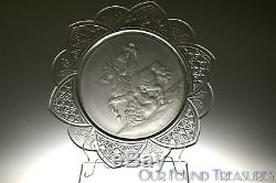 C. 1885 No. 403 CLASSIC WARRIOR Gillinder & Sons FROSTED CLEAR Jacobus Plate