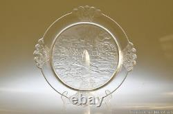 C. 1891 PLUCK No. 1 by Gillinder CLEAR Bread Plate
