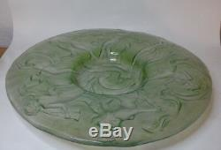CONSOLIDATED Deco DANCE OF NUDE NYMPH 17 3/4 Green Palace Plate