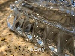 CRYSTAL WEDDING Adams EAPG 9 square Cake Plate, Stand 1890 Antique withRum Well