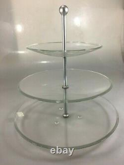Caldier 3 Tier Tidbit Tray Hostess Cookie Appetizer Plate 13 High Made in Italy