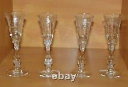 Cambridge Crystal Cordial Stem Set of 4 Rose Point 1 oz Stem No # 3121