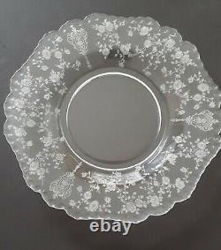 Cambridge Depression Glass Plates-ROSE POINT, Vintage 1936