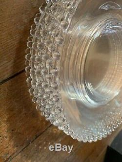 Candlewick Beaded Glass Dinner Plates 10.5 Set of 12