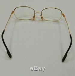 Cartier Paris 18k GOLD plated half frame classic style beautiful vintage glasses