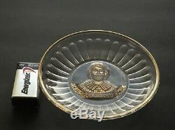 Christopher Columbus Punch Cup Under Plate Novelty Glass Co. Fostoria Ohio