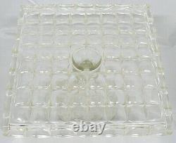 Clear Glass Pedestal Square Cake Plate