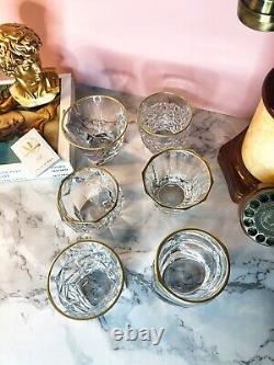 Cocktail glassesNEWGriffe Montenapoleone MilanoGold plated 24ktGREAT OFFER