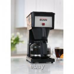 Coffee Maker Black Stainless Steel Water Tank Glass Decanter Built Warming Plate