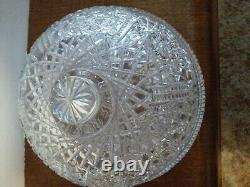Covered Crystal Cheese/Cake Plate, Domed Lid, Twelve Pointed Star Pattern