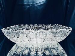 Crystal Glass Plate Bowl 11 Hand Cut for Sweets Fruits Candy Bohemian Crystal