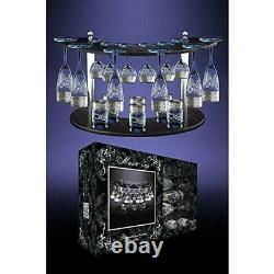 Crystal Goose GX-01-1687/19, Glassware Set with Platinum-Plated Sputtering