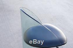 Curved Glass Chair in the Style of Pittsburgh Plate Co