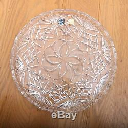 Czech Bohemia Crystal Glass Hand Cut Plate 24%