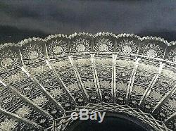 Czech bohemia crystal cut glass Plate 36cm hand cut