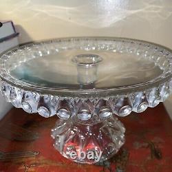 Dalzell, Gilmore, Leighton Glass Co Cake Plate. No. 49d. Rev Teardrop. 1892