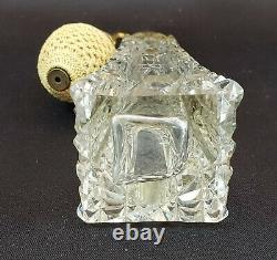 DeVilbiss Perfume Atomizer Brilliant Cut Crystal 1914 Gold plated fittings