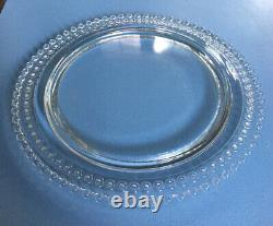 Desirable Imperial Candlewick Birthday Cake Plate with Candle Holes -as is