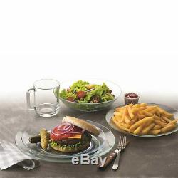 Duralex Lys Extra Large Glass Dinner Plates Tempered 280mm (11) x6