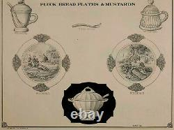 EAPG PLUCK No. 1 by Gillinder & Sons Clear Novelty Bread Plate c. 1880s