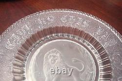 EAPG Plate frosted Lion, Give Us This Day Our Daily Bread ORIG GL-1