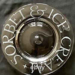 EMMA BRIDGEWATER rare. Ice Cream & Sorbet. 9 DESSERT PLATE. Etched Glass