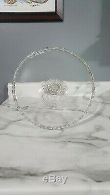 Eapg 1880 O'hara Rare #99 Horseshoe Stem Cake Stand Glass Plate Pedestal