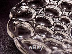 Eapg Plate, pair c1850 pattern glass sandwich, flint glass, Bakewell, Pears, 9.25