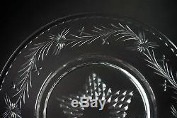 Eight Hawkes Cut Glass Talisman 8 1/8 Wide Dessert Plate Plates Set-Gorgeous