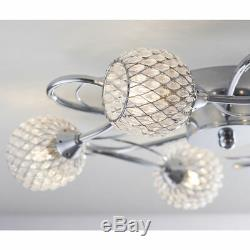 Endon Aherne 5 Light Flush Fitting Clear Glass/Polished Chrome Plate 33W