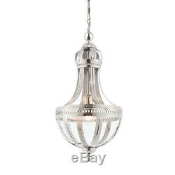 Endon Vienna Pendant Ceiling Light 40W E27 GLS Nickel Plated Brass Clear Glass