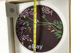 Ercole Moretti Murano Art Glass Millifiori Plate- purple/pink