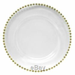 Events & Hosts Charger Plate Glass Beaded 13 4 Pack for Event & Wedding Decor