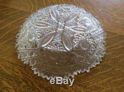 F. X. Parsche Marshall Field American Brilliant Crystal Cut Glass Plate Bowl