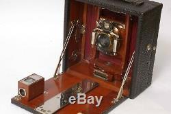 F97066 Unusual Bullard 4X5 Glass Dry Plate Camera Outfit Super Clean