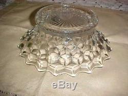 Fostoria 14 Punch Bowl Set pedestal base, 19 torte plate, bowl, 12 cups