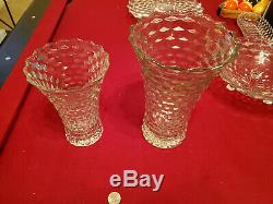 Fostoria American Set $1500 Value Vintage Cake Plate with Rum Well