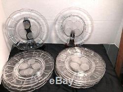 Fostoria Clear Gl 9 Plates Coin