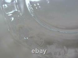 Fostoria Elegant Depression Glass FUCHSIA 7 1/2 Salad Plate Set of Twelve