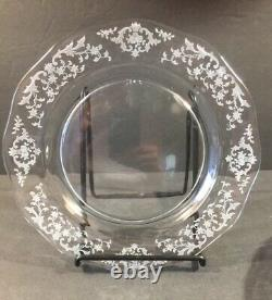 Fostoria Navarre Clear Etched Dinner Plate 9 1/2 Set Of 5