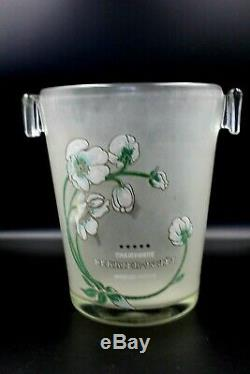 French Champagne Perrier Jouet Belle Epoque Glass Bucket