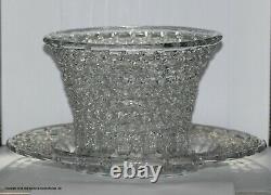 Georgian a traforato (spun glass) basket and plate stand