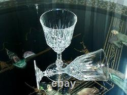 Gorgeous Vintage Crystal Decanter & 5 Wine Glasses On Silver Plated Tray Bohemia